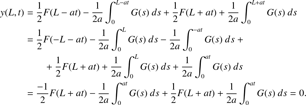 0 = y(0) = B